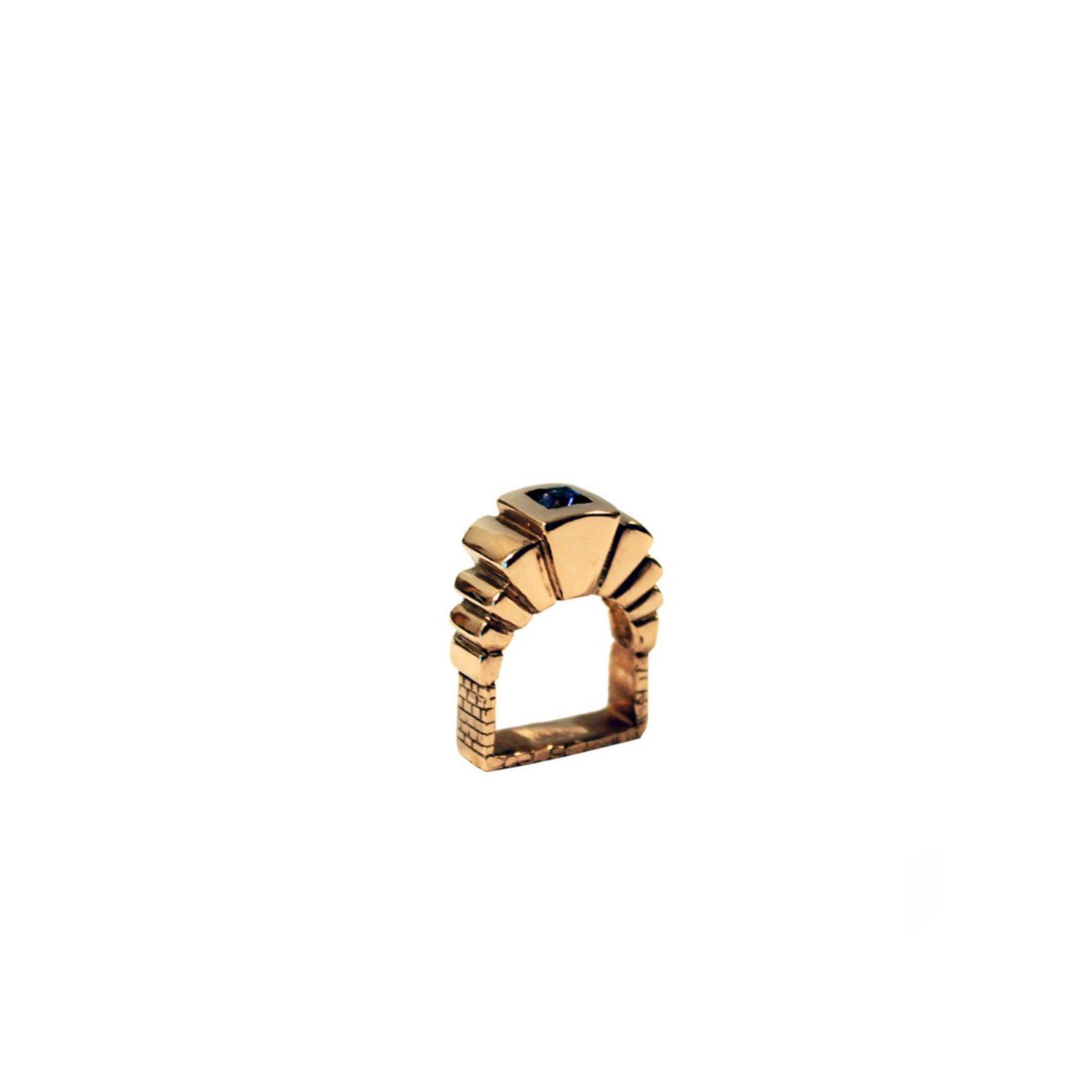 Portale Ring Gold Plated Silver and Iolite