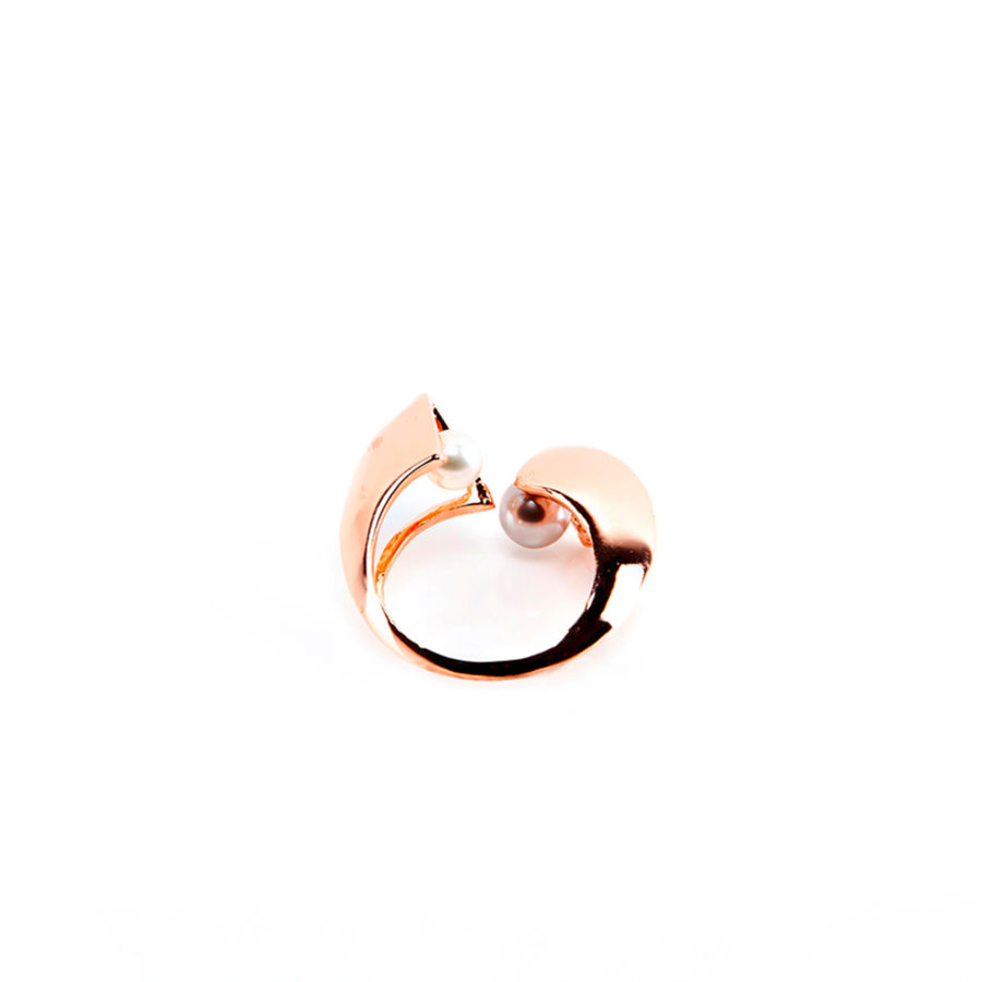 Double Gold Ring | Unconventional Pearls Collection by Co.Ro. Jewels