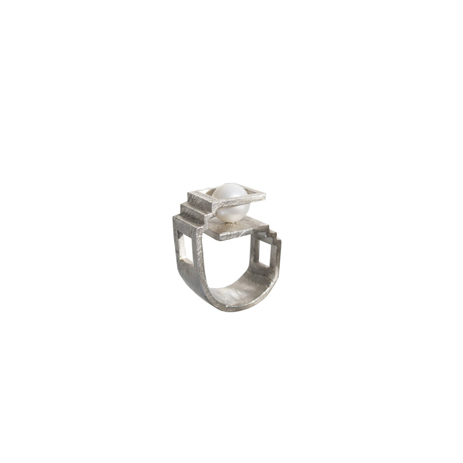 Etienne Silver Ring | Unconventional Pearls by Co.Ro. Jewels