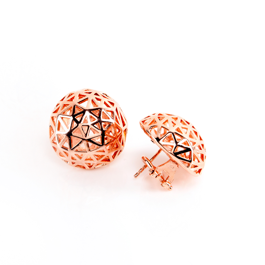 Coco Pink Gold Earrings | Architectures Collection by Co.Ro. Jewels