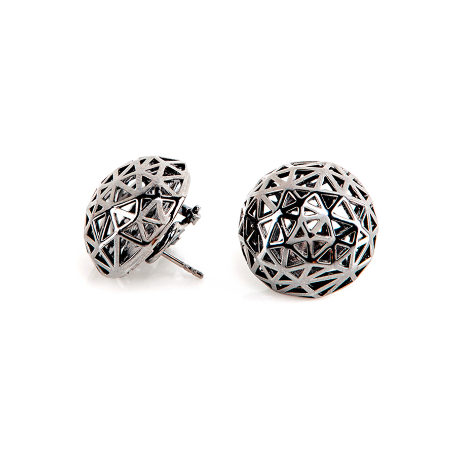 Coco Ruthenium Earrings | Architectures Collection by Co.Ro. Jewels