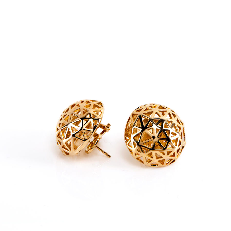Coco Gold Earrings | Architectures Collection by Co.Ro. Jewels