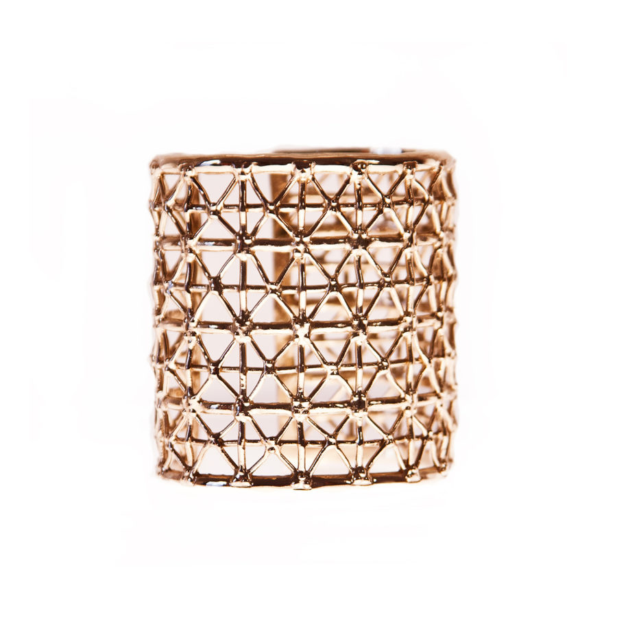 Gasometer Gold Cuff | Industrial Archeology Collection by Co.Ro. Jewels