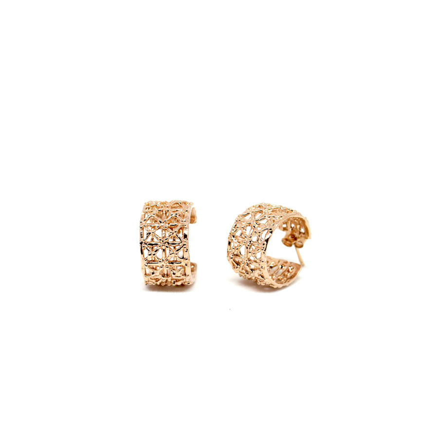 Gasometer Gold Earrings | Industrial Archeology Collection by Co.Ro. Jewels