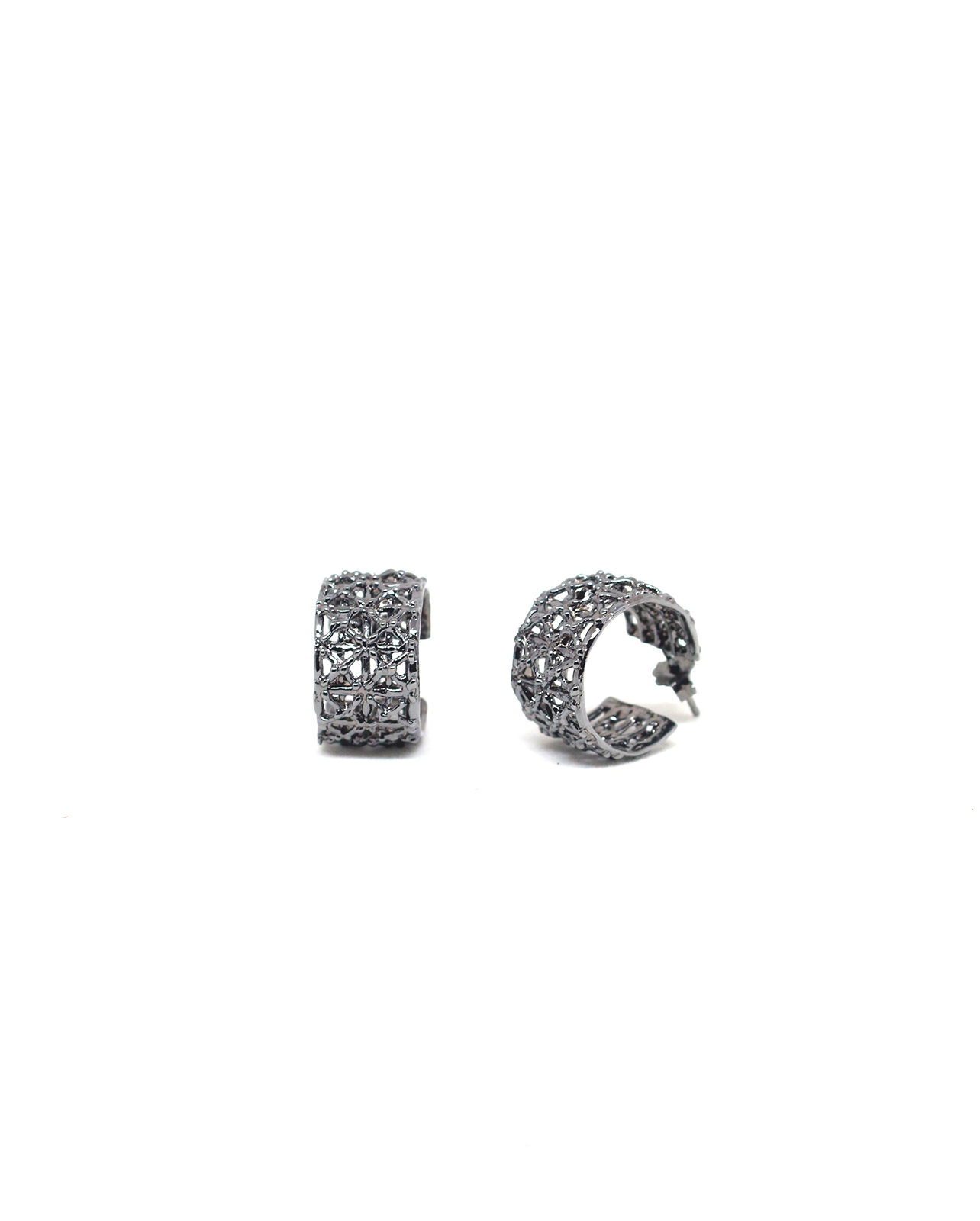 Gasometer Ruthenium Earrings | Industrial Archeology Collection by Co.Ro. Jewels