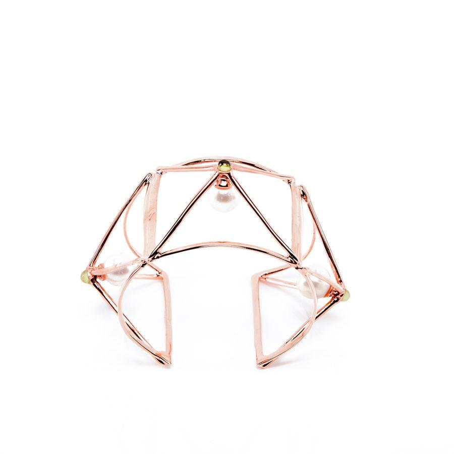 wire-bracciale-dettaglio-oro-rosa-e-verde