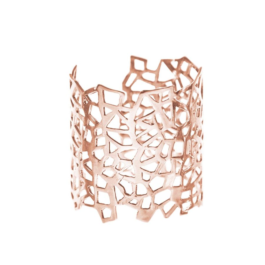 Lutéce Pink Gold Cuff | Architectures Collection by Co.Ro. Jewels