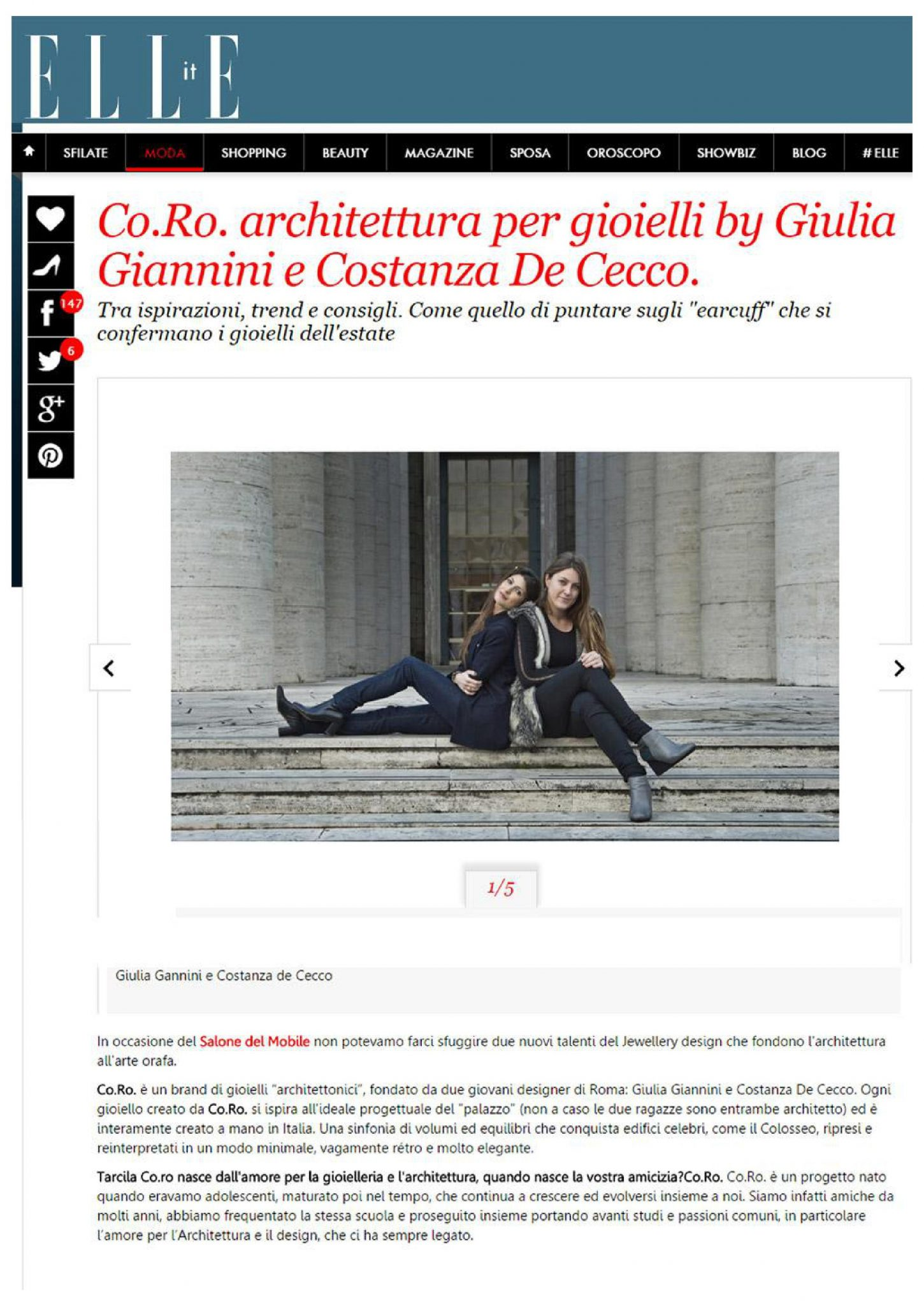 ELLE Italia | Co.Ro. Jewels