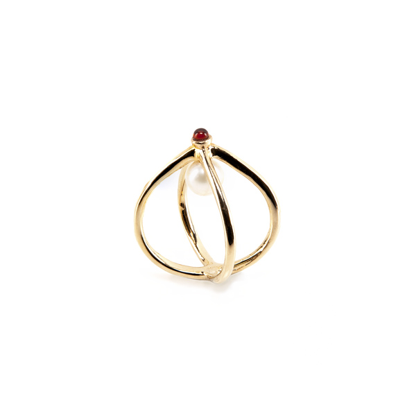 Wire Gold Ring | Unconventional Pearls Collection by Co.Ro. Jewels
