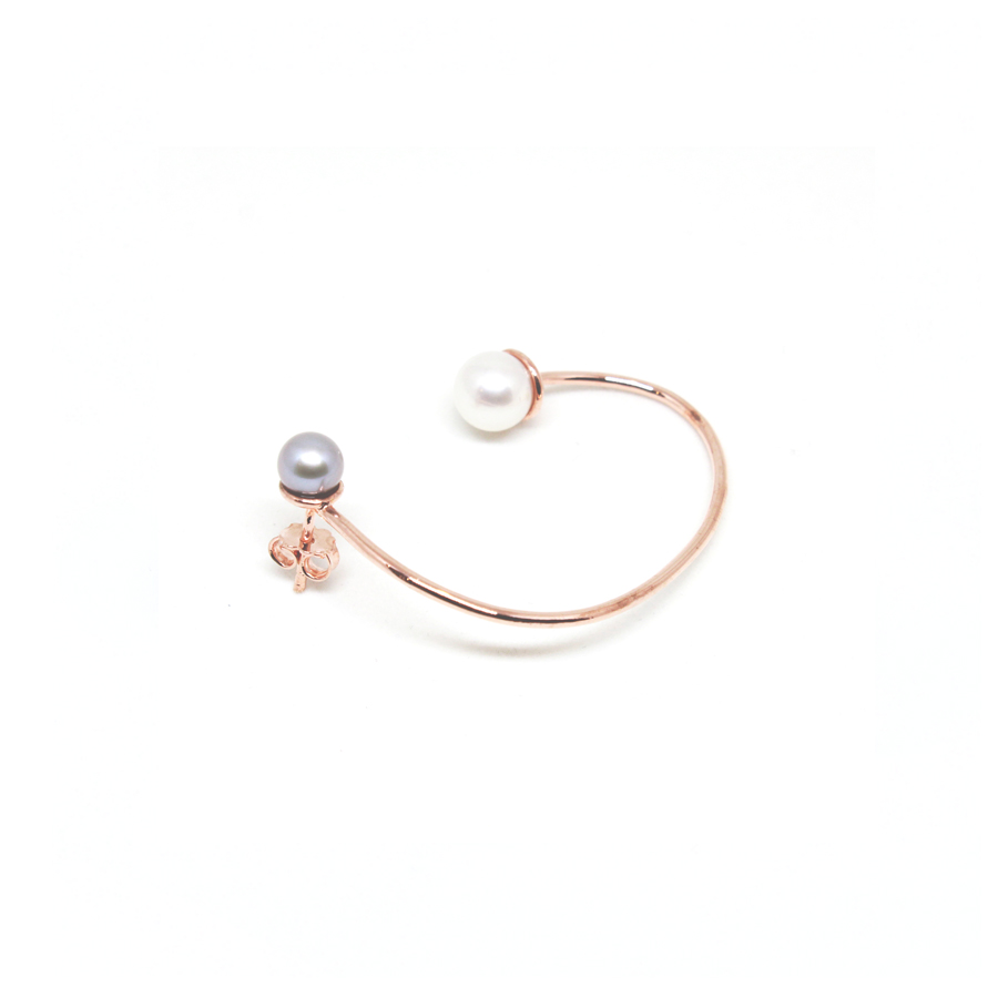 Linea Pink Gold Earcuff | Unconventional Pearls Collection by Co.Ro. Jewels
