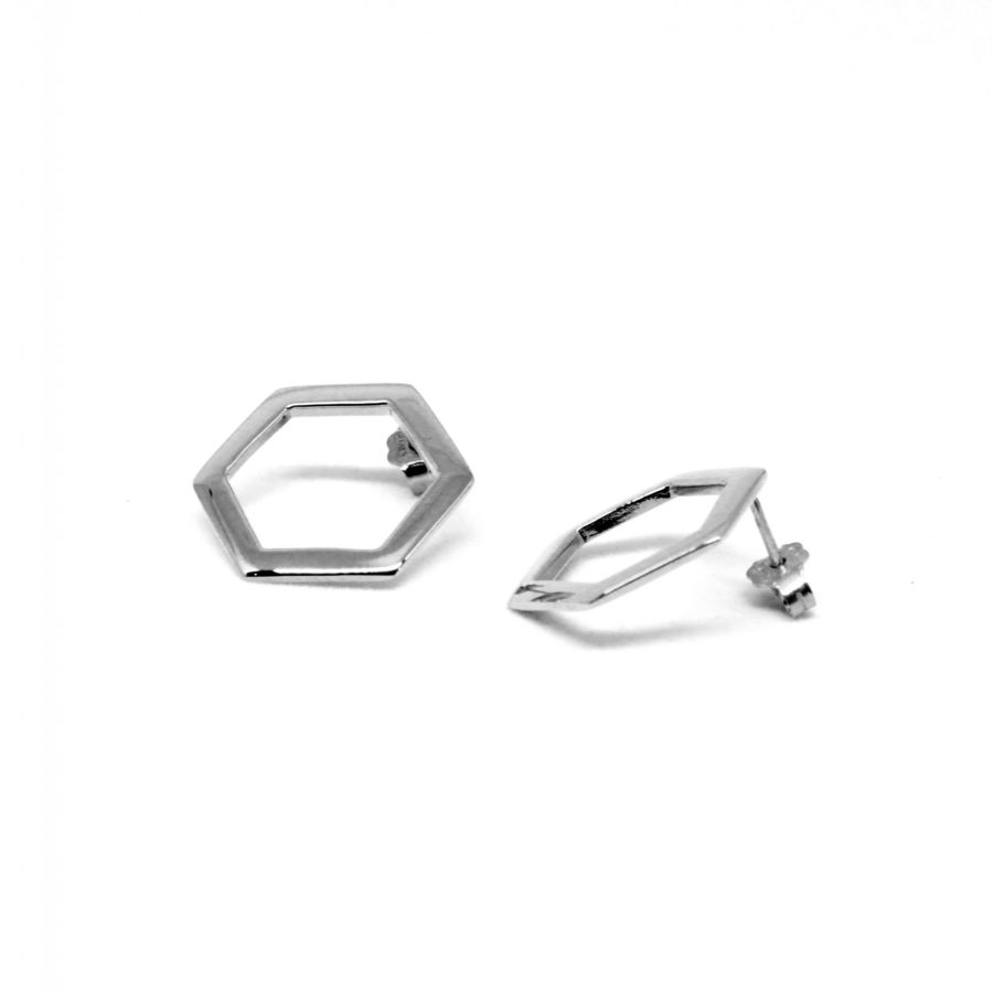 Hexagon Silver Sterling | Hexagons Collection by Co.Ro. Jewels