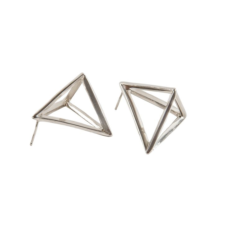 Prismi Silver Earrings | Prismatic Collection by Co.Ro. Jewels