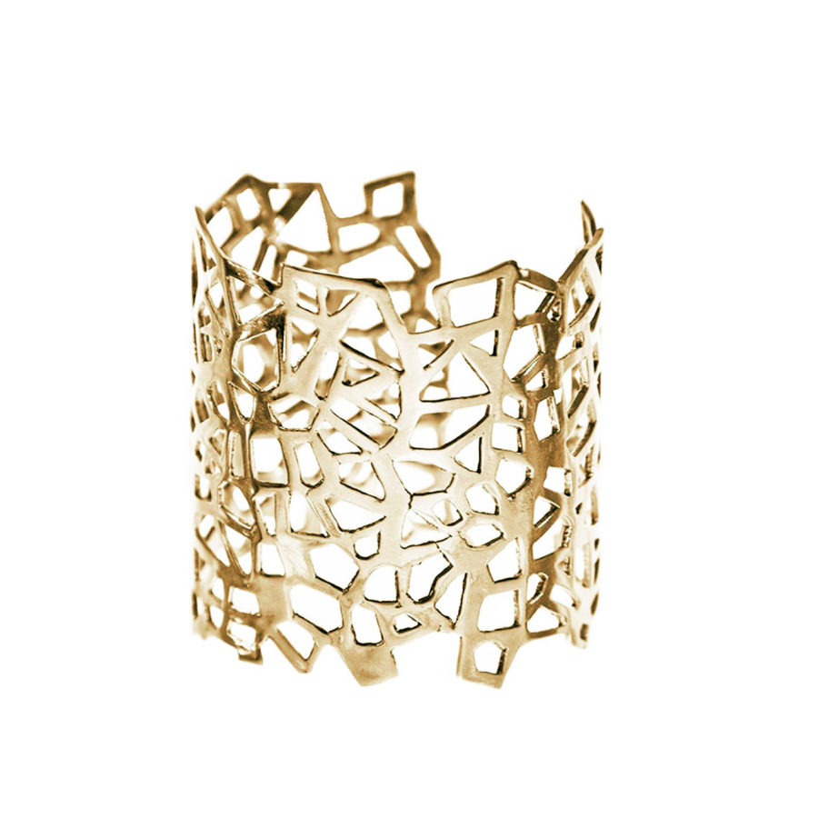 Lutéce Gold Cuff | Architectures Collection by Co.Ro. Jewels