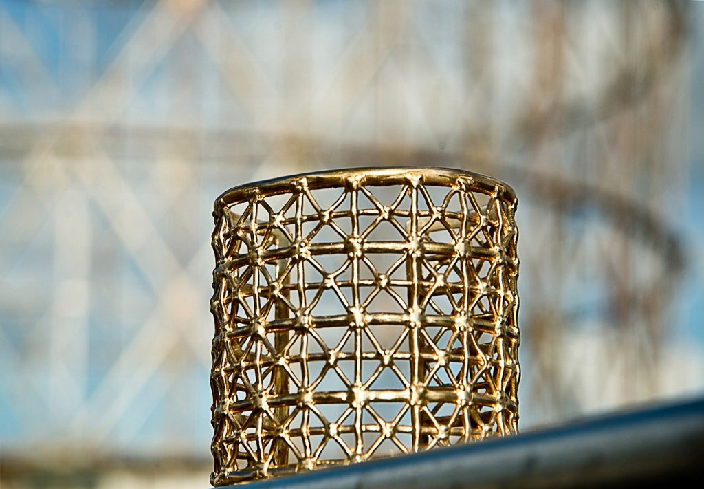 Gasometer Gold Cuff & the Gasometer of Rome | Courtesy of Co.Ro. Jewels