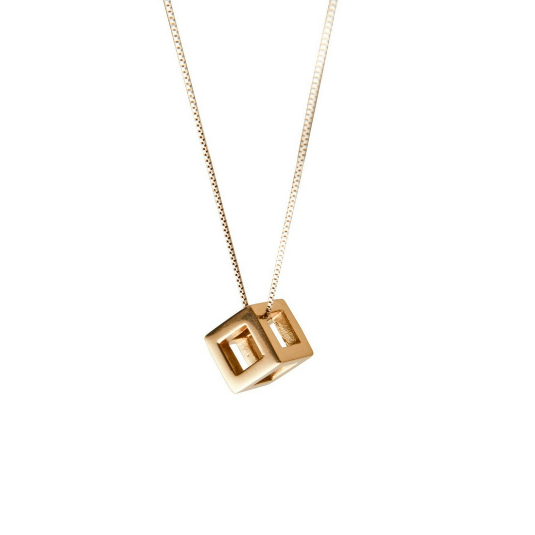 Q.Bo. Pendant Gold Plated Bronze 2 | Co.Ro. Jewels