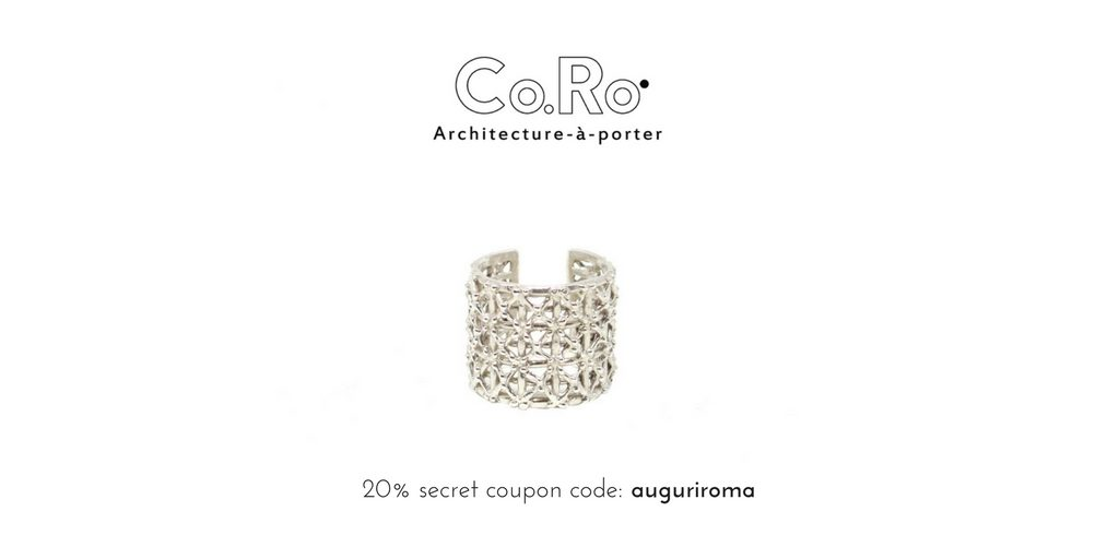 20% secret coupon for our gasometer ring in silver