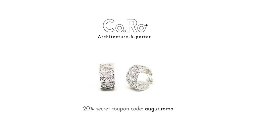 20% secret coupon for our gasometer earrings in silver