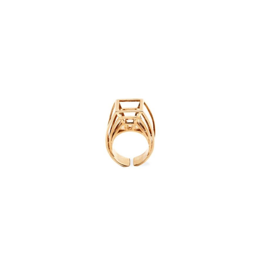 Prospettiva Ring Gold Plated Bronze