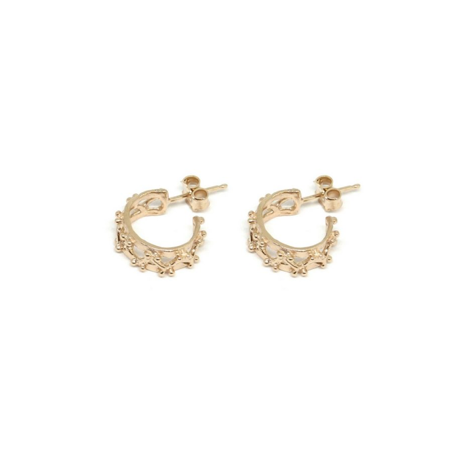 Little Beams Hoop Earrings Gold
