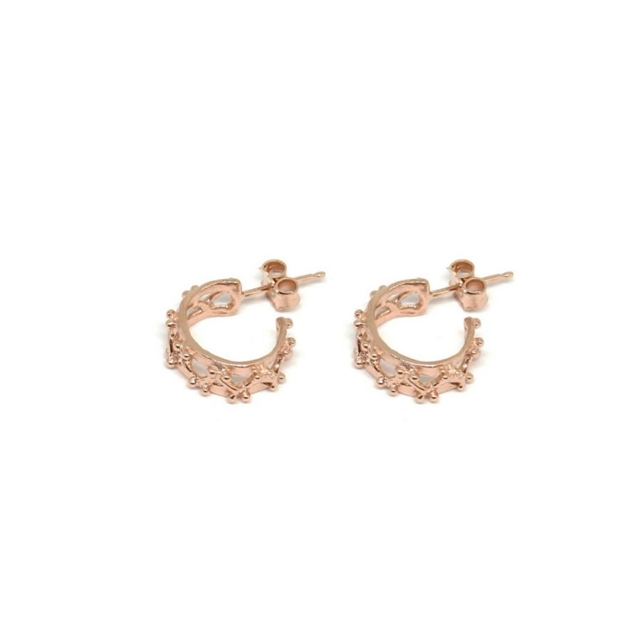 Little Beams Hoop Earrings Pink Gold