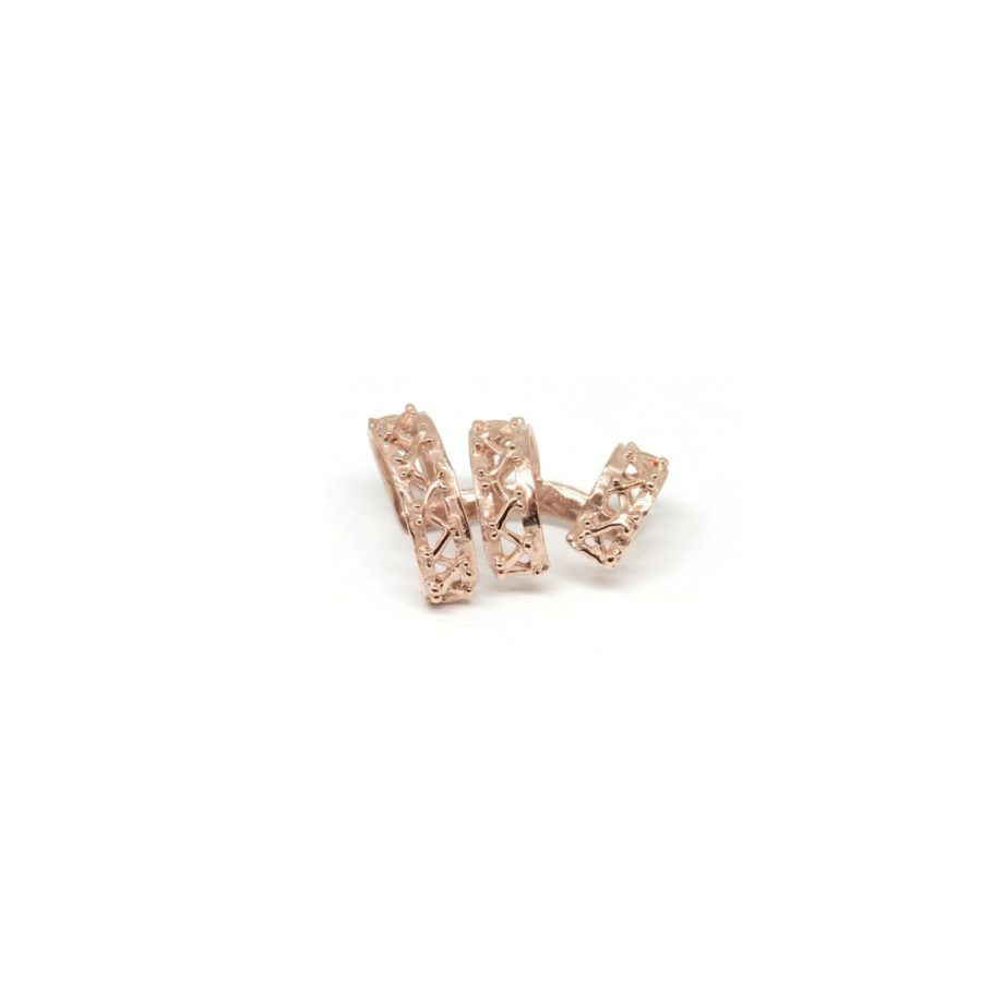 beam mono earrings pink gold catalogue