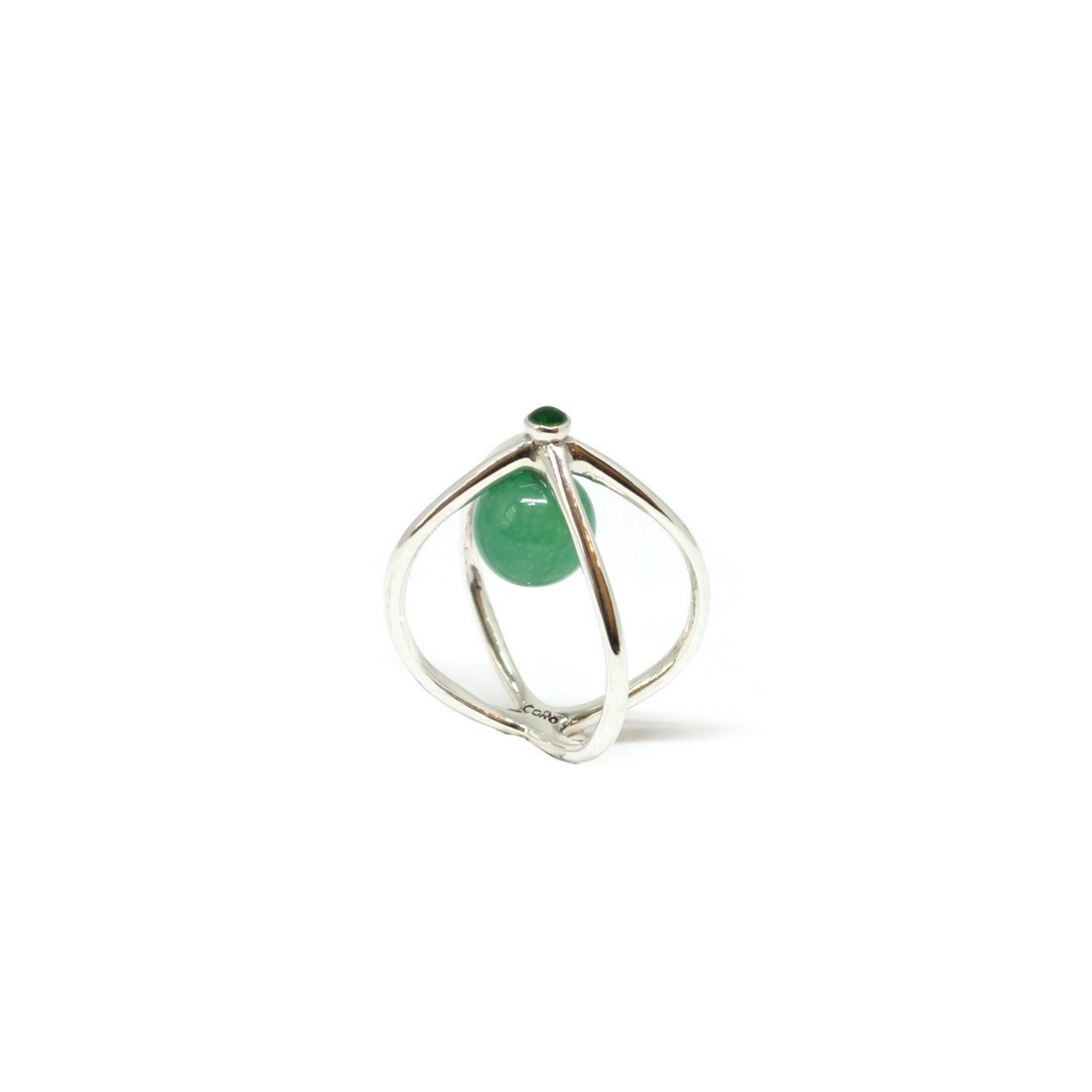 Wire ring silver sterling and green jade crafted with love by co wire ring silver sterling and green jade crafted with love by co jewels shop now greentooth Image collections