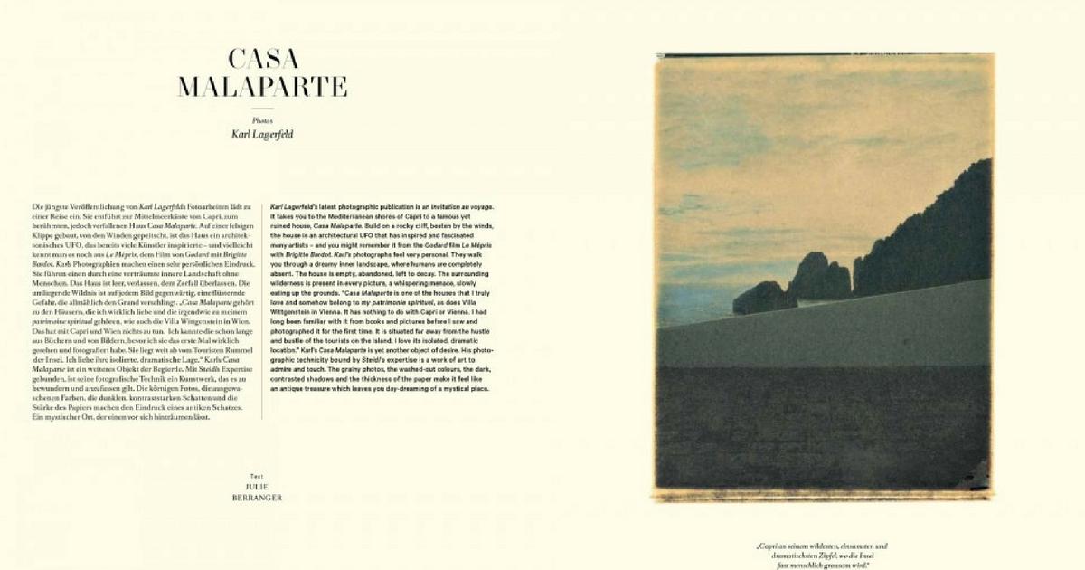 Casa Malaparte | Karl Lagerfeld, ed. Steidl (1998)