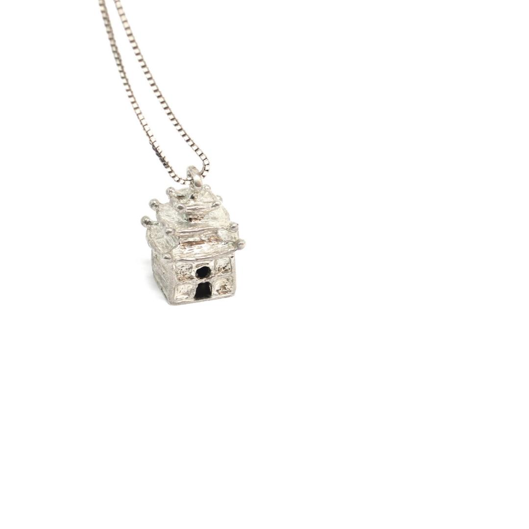 Pagoda Pendant 925 Silver Sterling