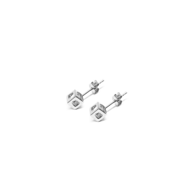 q.bo. earrings silver pure geometry Co.Ro. Jewels