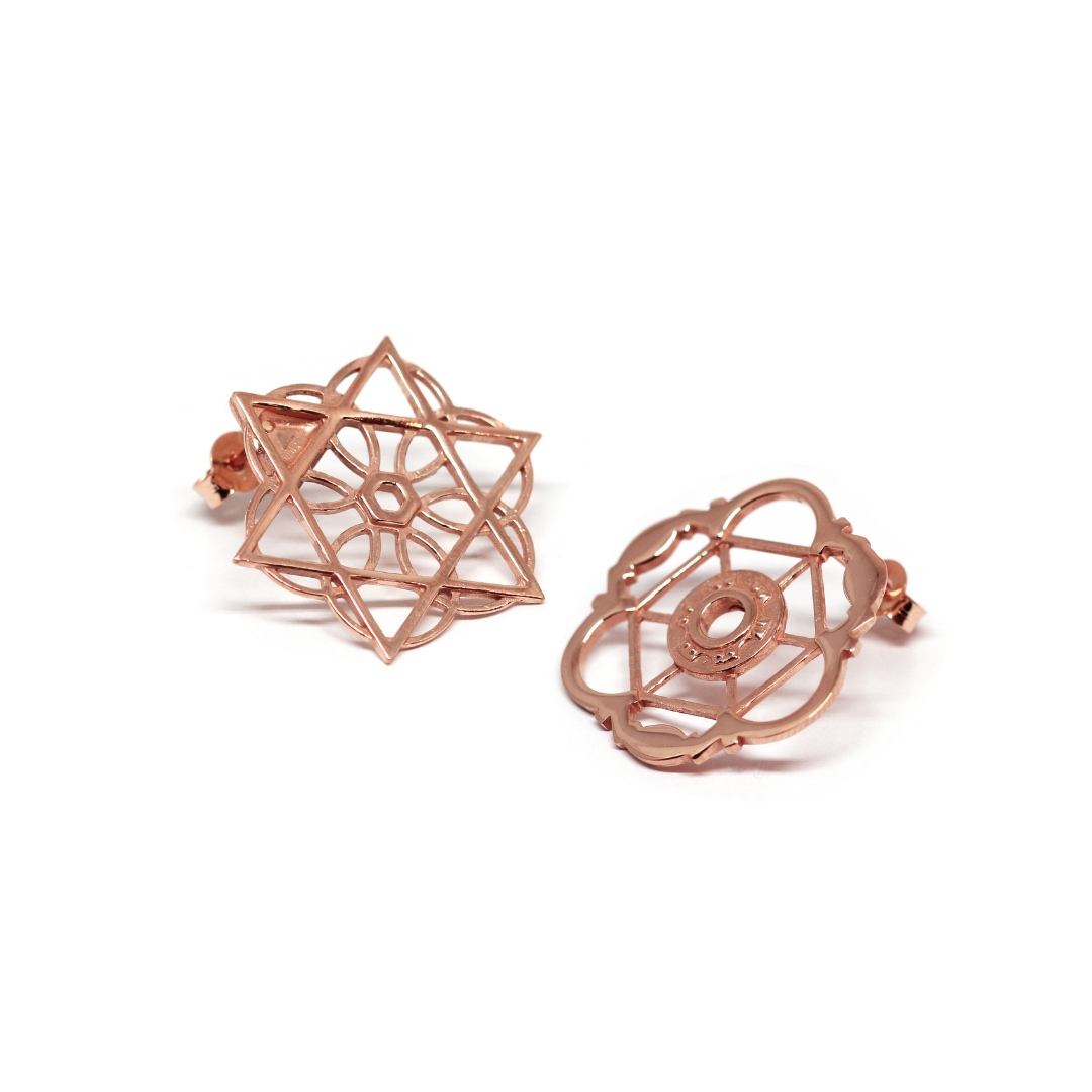 b7d2576003d7e8 Sant'Ivo Alla Sapienza Geometry Earrings Rose Gold Plated Silver Sterling  925
