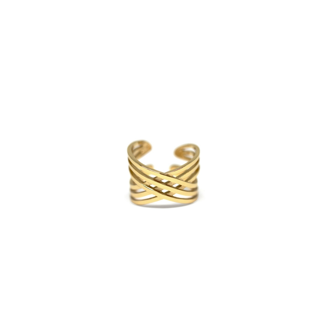 Hangar Ring Gold-Plated Silver