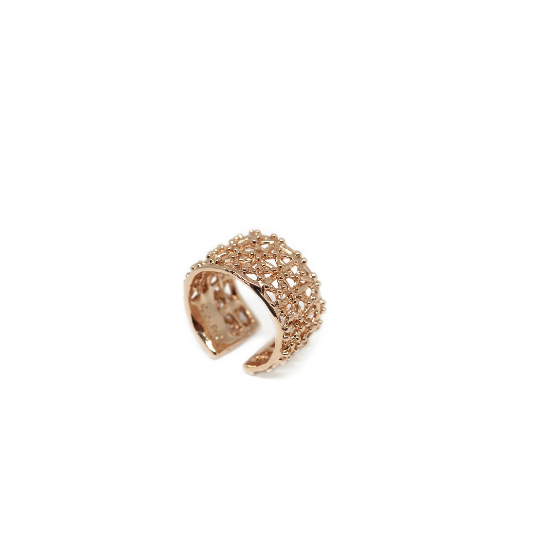 Gasometro Low Ring Rose Gold Plated Bronze
