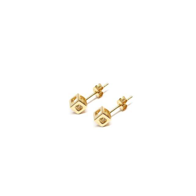 q.bo. earrings gold plated bronze pure geometry Co.Ro. Jewels
