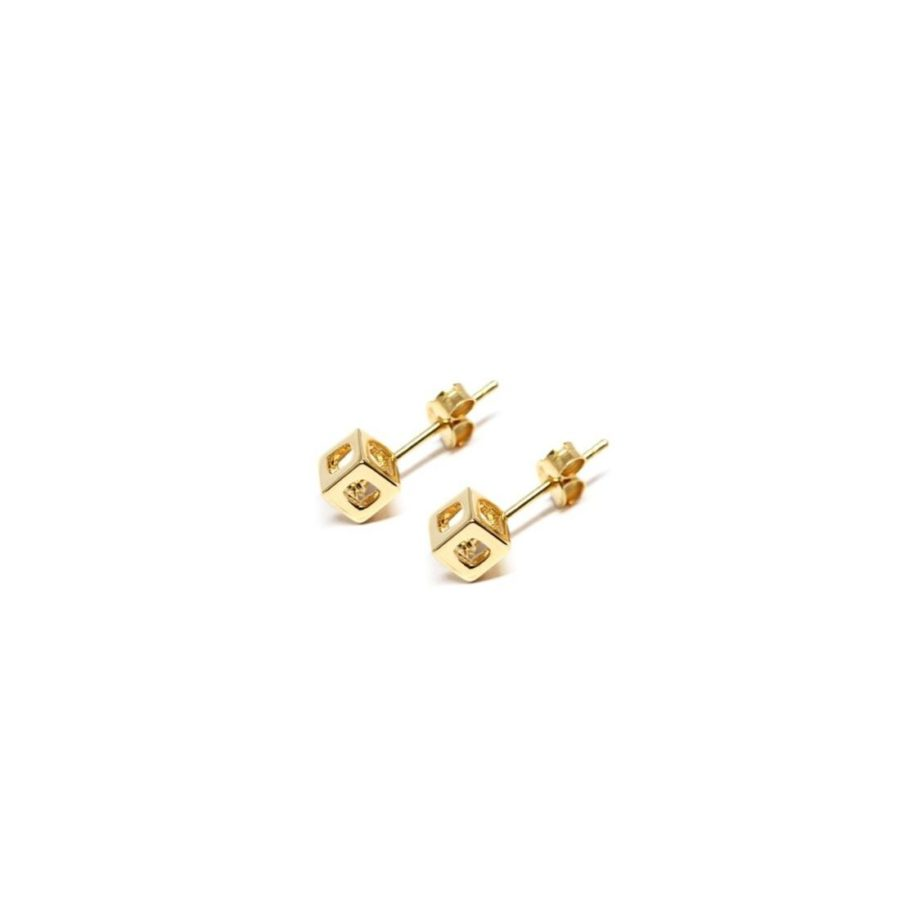 q.bo. earrings gold plated bronze pure geometry Co.Ro. Jewels