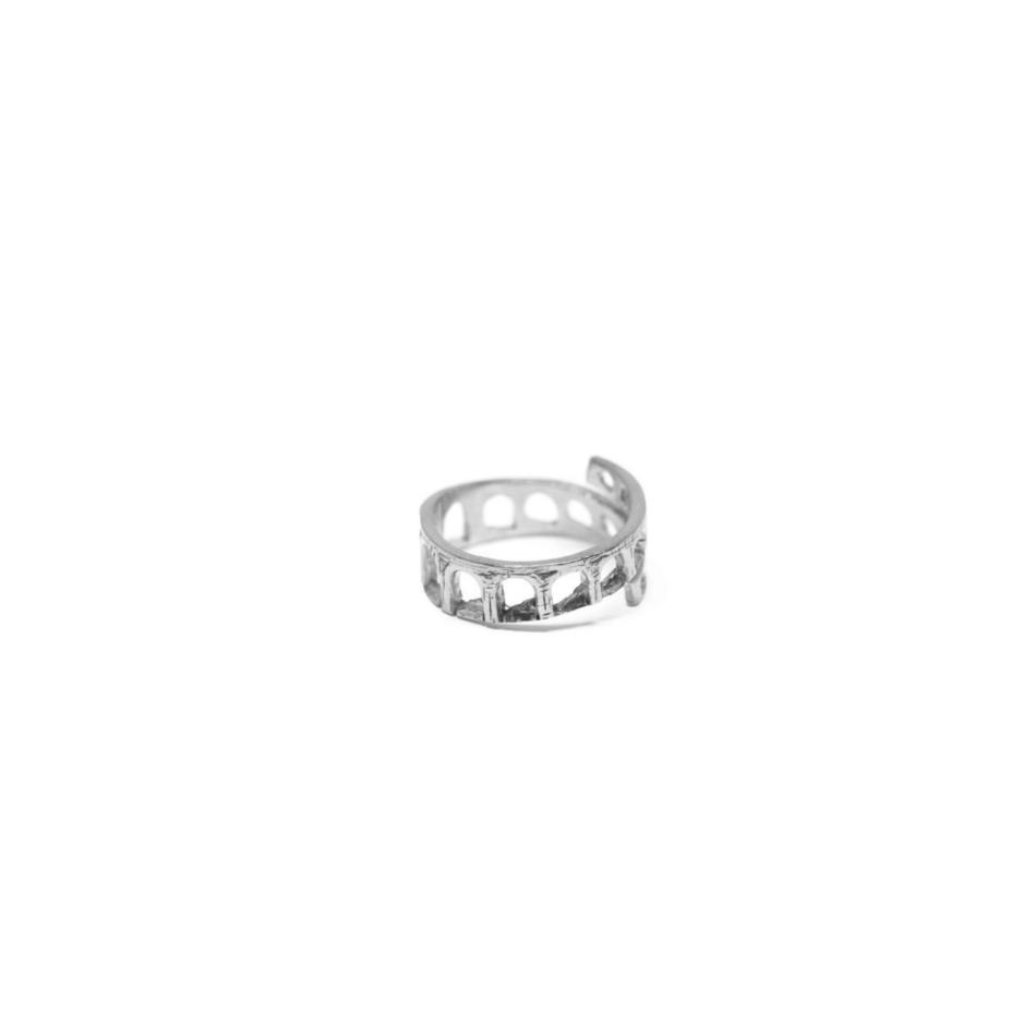 Aqueduct Thin Ring Rome Silver