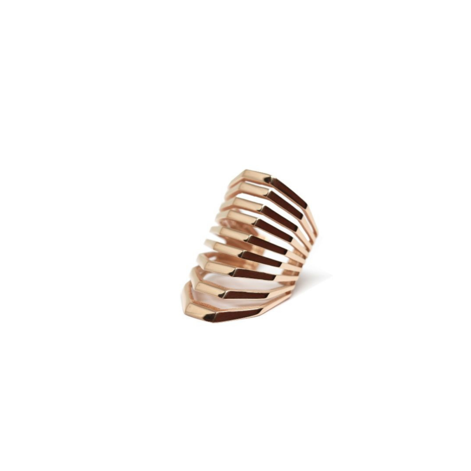Spanish Steps Co.Ro. Jewels Rome Ring Gold Rose