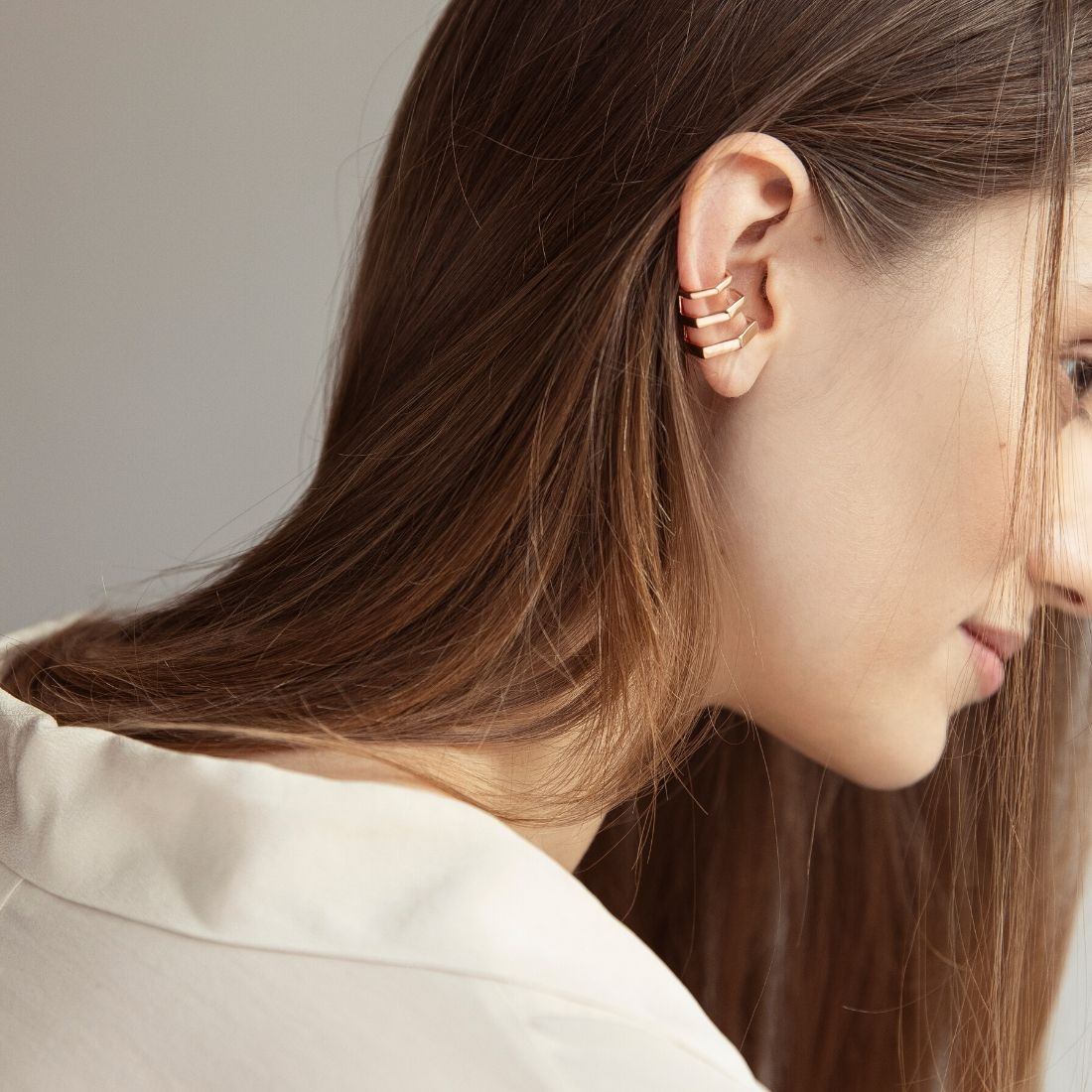 Palazzo Rosso Mono Earring Rose Gold Plated Silver
