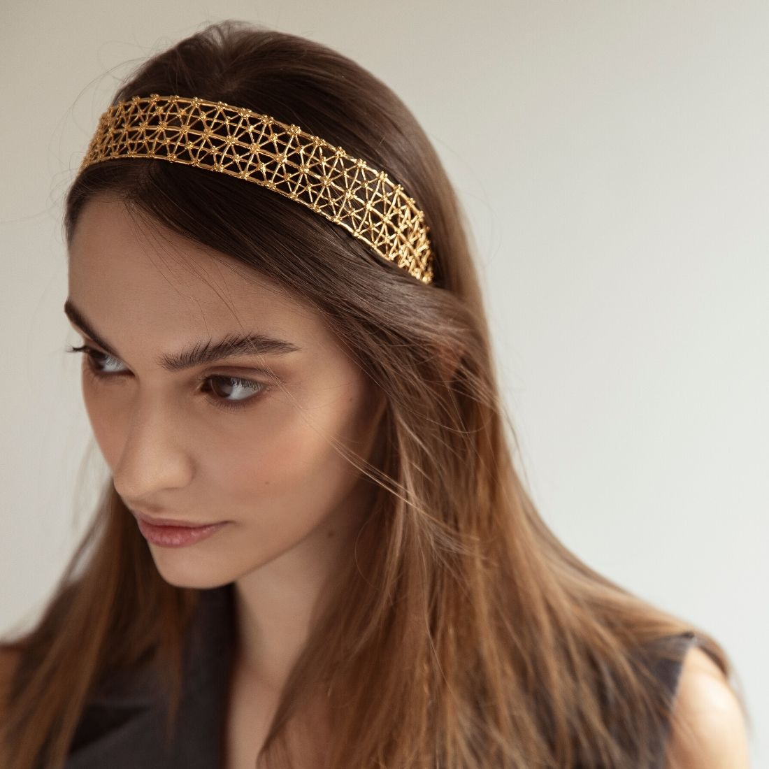 Gasometro Headband Gold Plated Bronze