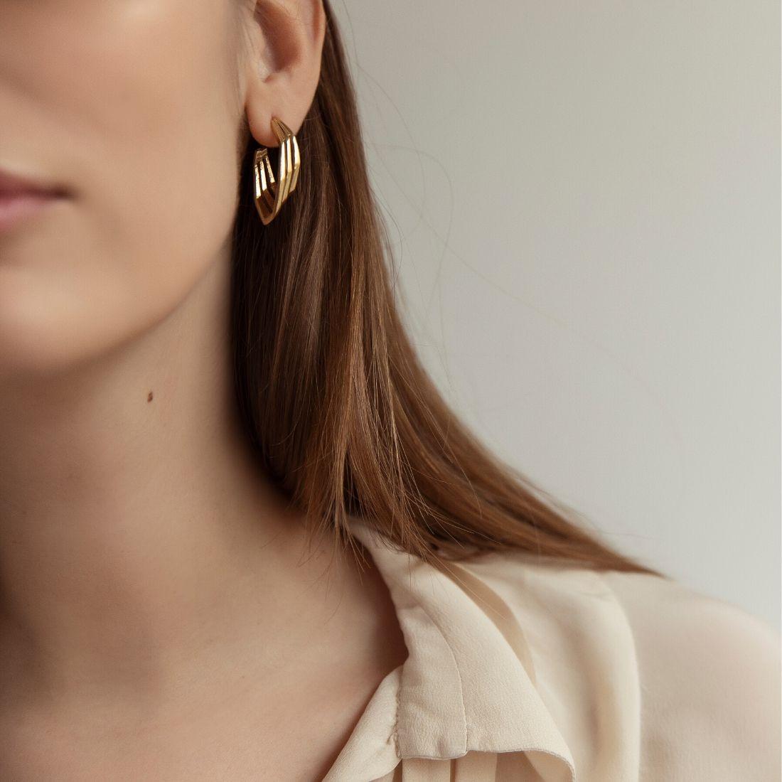 Spanish Steps Earrings Rose Gold Plated Silver