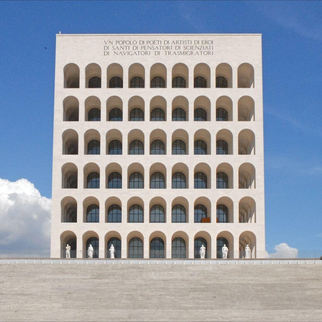 Colosseo Quadrato Pendant Gold Plated Silver