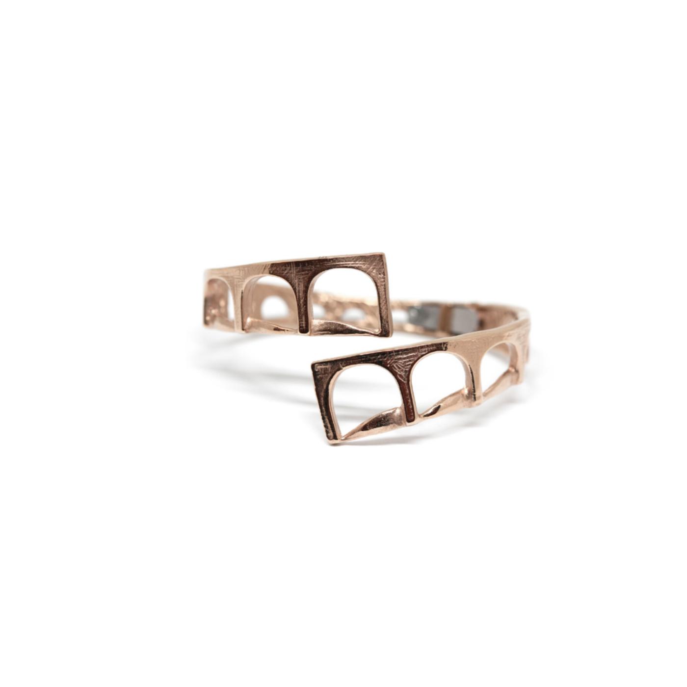 Aqueduct Bracelet Rose Gold-Plated Bronze