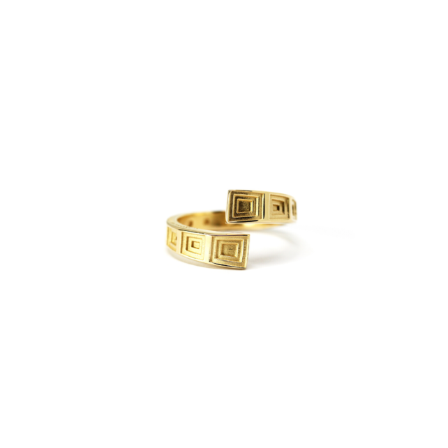 Pantheon Ring Gold Plated Silver
