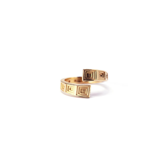 Pantheon Ring Rose Gold Plated Silver
