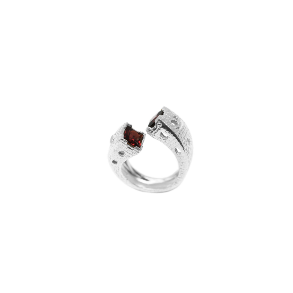 Anello contrarié torri gotiche Co.Ro. Jewels argento