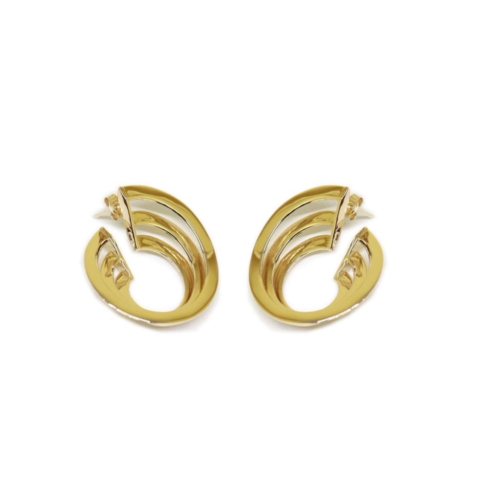 Solomon Guggenheim New York Earrings Co.Ro. Jewels Gold Plated Bronze