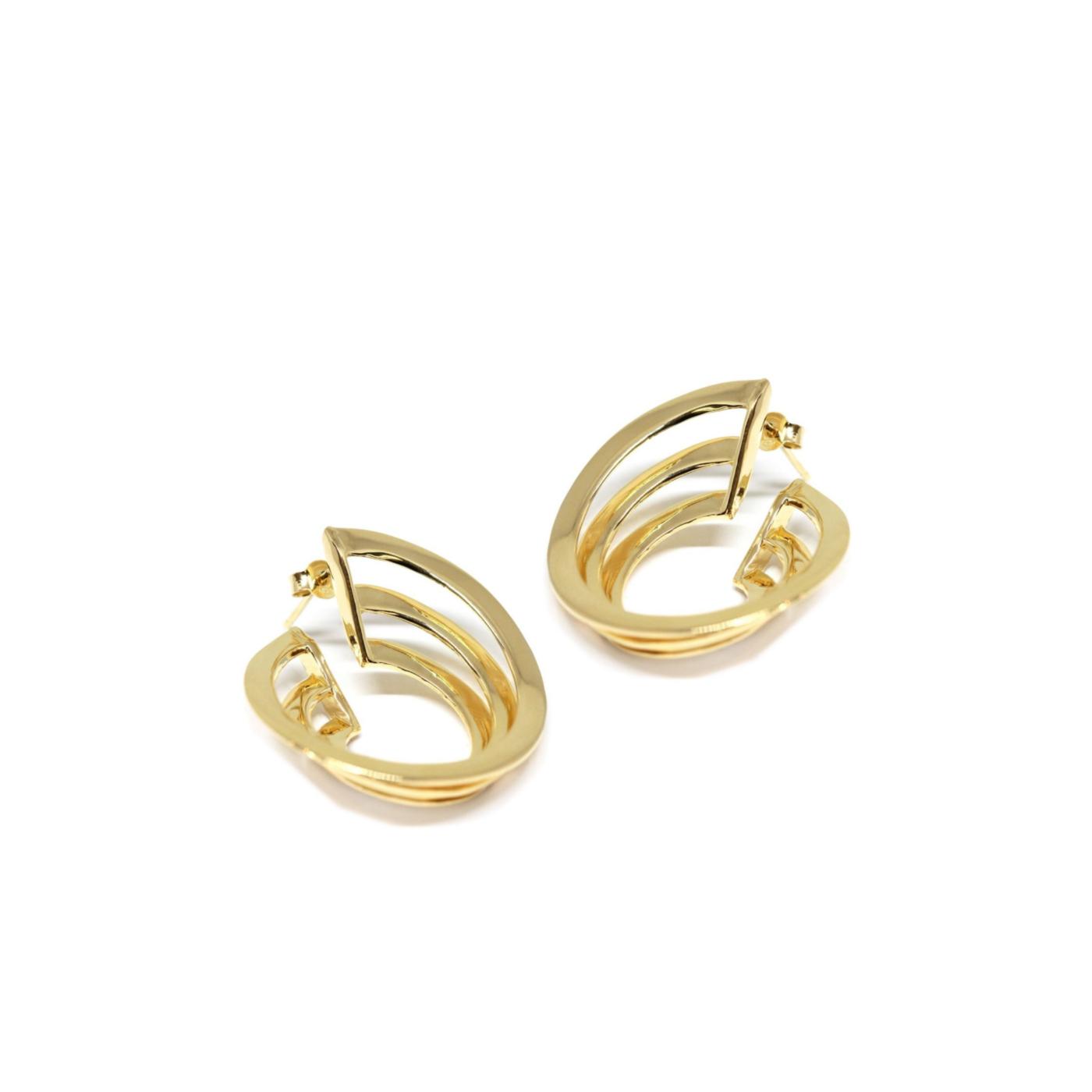 Vortex Guggenheim Earrings Gold Plated