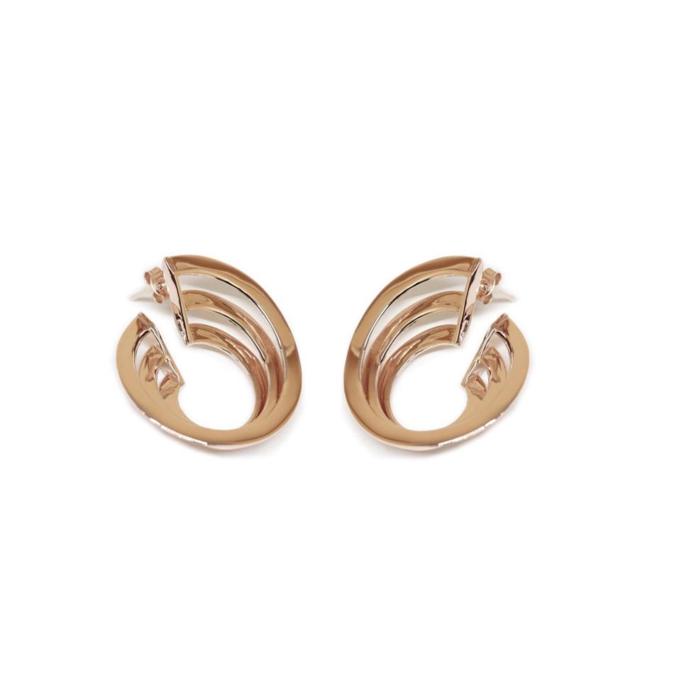 Solomon Guggenheim New York Earrings Co.Ro. Jewels Rose Gold