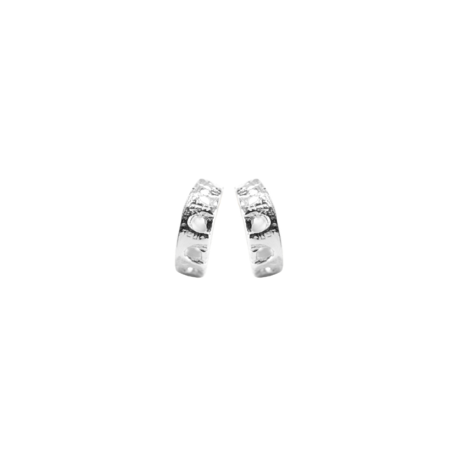 Aqueduct Hoop Earrings 925 Sterling Silver