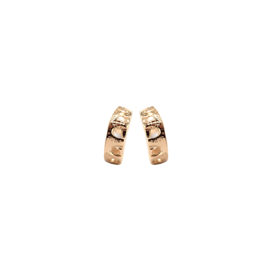 Aqueduct Hoop Earrings Rose Gold Plated Silver