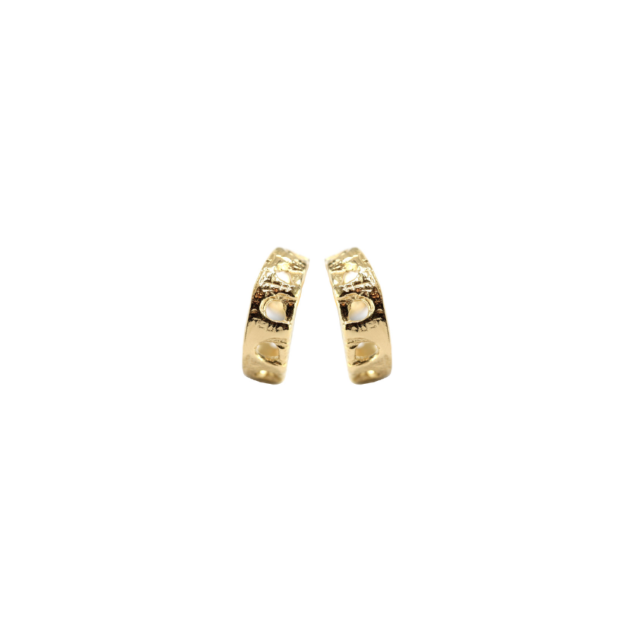 Aqueduct Hoop Earrings Gold Plated Silver